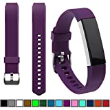 Fitbit Alta Best Deals - DelTex® (Plum) Band / Strap With Secure Adjustable Buckle Fastener For Fitbit Alta Activity Tracker Wristband Bracelet