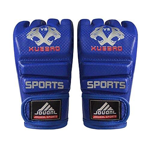 Erwachsene Kämpfen Halbfingerhandschuhe -UFC Boxhandschuhe - Handschuhe MMA-Blau