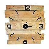 Palettenmöbel Große Wanduhr Chronos aus recycelten Palettenholz - Jedes Stück EIN Unikat aus echter Handarbeit - perfekt als Wohnzimmeruhr