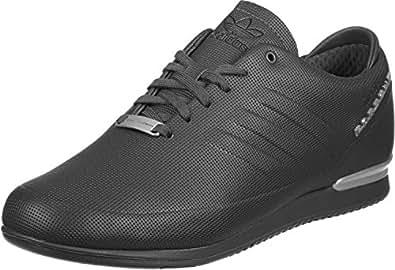 adidas Originals Men's Porsche Typ64 Sport Utiblk/Utiblk/Msilve Leather Sneakers - 12 UK/India (47.33 EU)