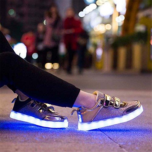 Softance Turnschuhe LED Leuchtet Kinder Gold Blinkende Softance LED Schuhe f眉r YOx5SR
