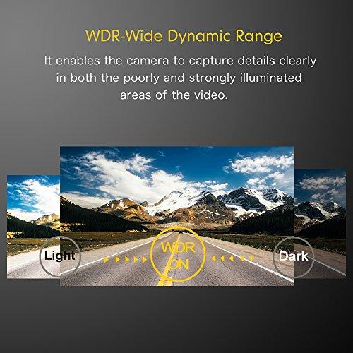 Mibao Dash Cam per Auto Telecamera Auto Dashcam 1080P con 3.0″ LCD, 170 Gradi, 6 Glens, G-Sensor, WDR, Rilevazione di Movimento, Registrazione in Loop, Monitor di Parcheggio - 8
