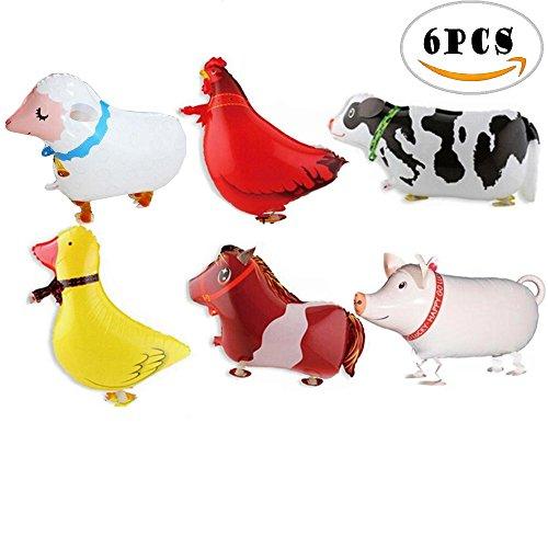 6pcs Bloomood tier ballons artgerechte ballon zum geburtstag oder anderen - Schafe Happy Halloween