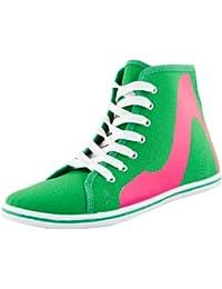 Sneaker mujer, Zapatillas de high heel print, y tal—n plano,