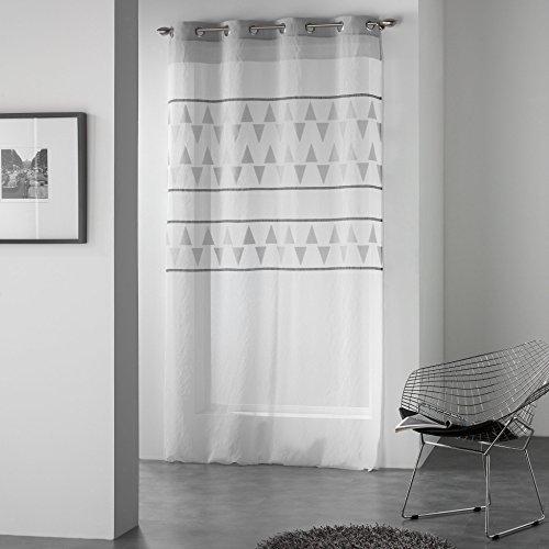 Ösenvorhang von Douceur d'Intérieur TINO, aus Polyester, bedruckt 260x 140x 0,1cm