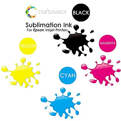 4 x 100ml Epson Sublimation Ink CMYK