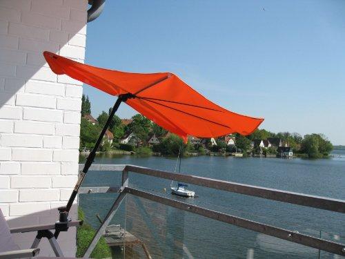 Neu - SONNENSCHIRM - STABIELO - BALKON - Stuhl-Sonnenschirm Holly'mat - Fächerschirm TERRACOTTA -...