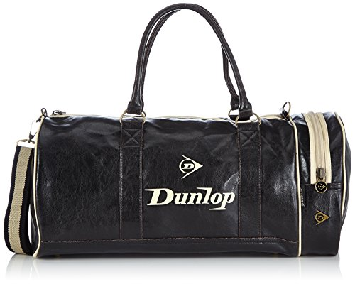 Dunlop Unisex-Adult Weekender Top-Handle Bags 20177 Black (Black/Beige), 46x25x25 cm (B x H x T)