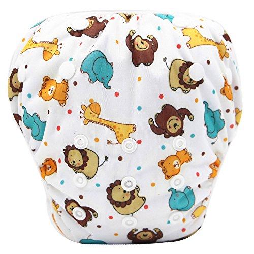 Topgrowth cover pannolini lavabili neonato bambini riutilizzabili costumi da bagno carino stampato pantaloni da nuoto per 0-3 anni (04)