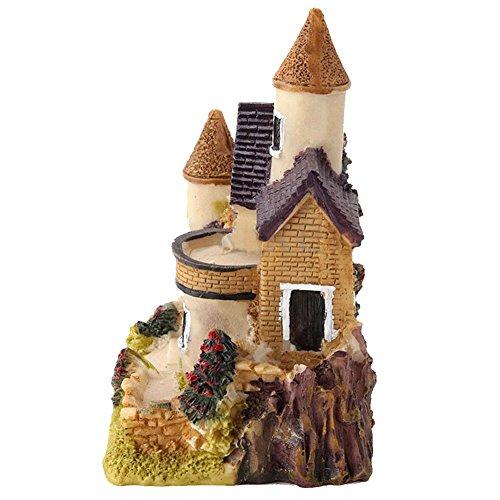 (pu ran Miniatur-Haus mit Pflanzen Micro Landschaft, Home Dekoration Kunstharz-Dekor–zufällige Farbe und Muster)
