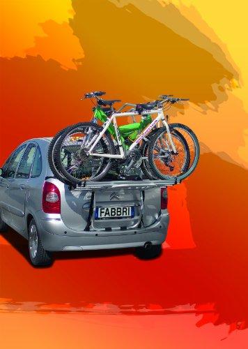Fabbri Portatutto 6201811 Bici Ok 3 Van Portabiciclette Posteriore per Trasportare 3 Biciclett