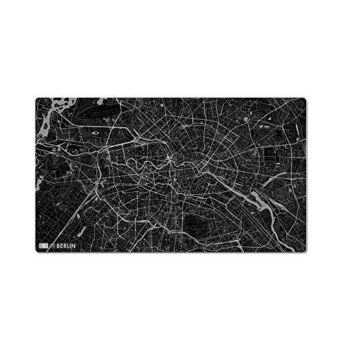 Alfombrilla de ratón, diseño de Estilo de Mapa de Berlín, Gran Juego de Arte Creativo Alfombrilla de ratón, Esterilla de Escritorio (70 * 40 cm / 28 * 16 Pulgadas, Grosor 4 mm)