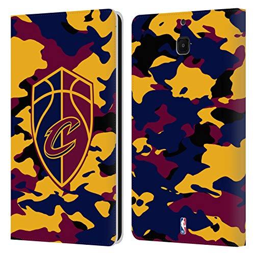 Head Case Designs Offizielle NBA Camouflage 2018/19 Cleveland Cavaliers Leder Brieftaschen Huelle kompatibel mit Samsung Galaxy Tab A 8.0 2018 -