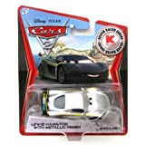 Disney Pixar CARS 2 Exclusive 1:55 Die Cast Car SILVER RACER Lewis Hamilton With Metallic Finish - Véhicule Miniature - Voiture