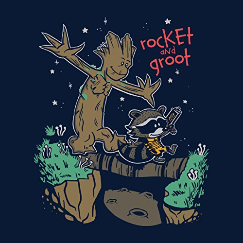 Guardians Of The Galaxy Rocket And Groot Men's Vest Navy Blue