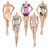 Asiv 5 Sets Mode Badeanzüge, Strand Bikini, Schwimmen Kleidung für Barbie Puppen Dolls -...
