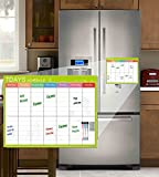 Villexun calendario magnetico ideale per pianificazione di studio, esami, faccende o dieta – lavagna bianca da frigo con penne cancellabili incluse – divisione settimanale, Lega, colore: 7 day, cod. DA00587