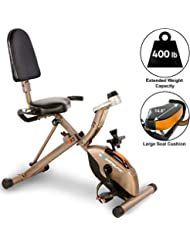 Exerpeutic GOLD 525XLR Folding Recumbent Exercise Bike - with 181 kg maximum weight capacity