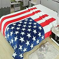 CCMUP 150 * 200 cm Manta multifunción Funda de sofá Sábana Individual Lanza Bandera Americana británica