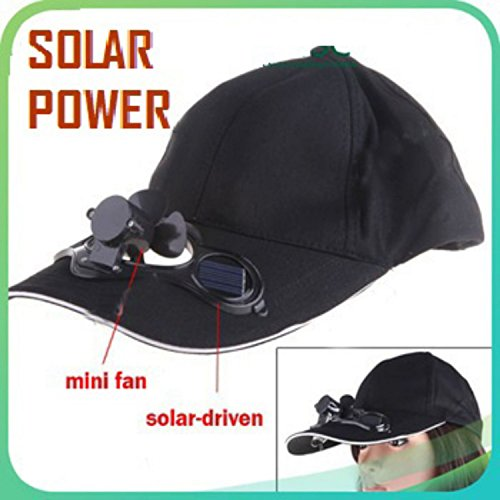 Voltac Solar Power Air Fan Hat Peak Cap Sunhat for Outdoor Camping/Hiking/Cycling...