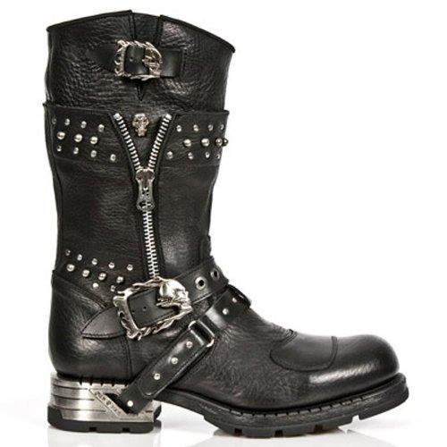 New Rock , Boots biker homme Noir - Noir