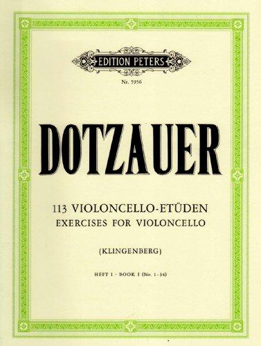 113 exercices pour violoncelle, volume 1,n° 1-34 / 113 exercises for violoncello, Book 1, n° 1-34 / 113 violoncello etüden  heft 1, n° 1-34
