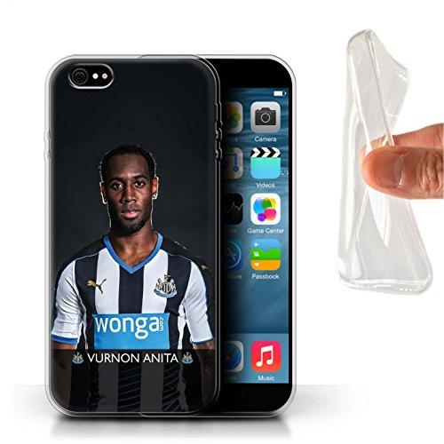 Officiel Newcastle United FC Coque / Etui Gel TPU pour Apple iPhone 6+/Plus 5.5 / Pack 25pcs Design / NUFC Joueur Football 15/16 Collection Anita