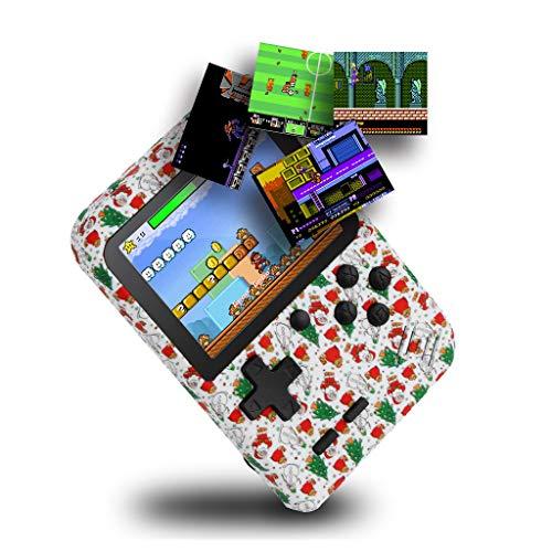 Gameboy Game Player 400 Jeu de Puzzle Classic Console pour Classiques Enfants Mémorial Spécial de Noël Console de Jeu Portable PS4 Poche (Blanc)
