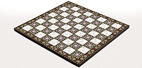 YENIGUN WOODEN FOLDABLE CHESS BOARD WITH MOTHER OF PEARL DESIGN