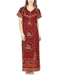 Secret Wish Women s Batik Printed nighty Feeding Nighty Maternity Nighty Nursing  Nighty  d4ac56aa4