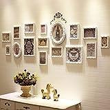 HR Europäische Massivholz Fotowand Einfache Moderne Wohnzimmer Dekoration Fotowand Kreative Siamesische Kombination Rahmen Wand