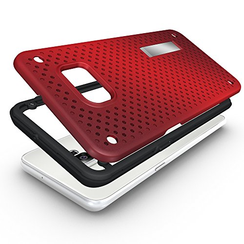 Note 5 Mesh Coque,EVERGREENBUYING Ultra Slim léger 2 en 1 N9200 Housse étui [Kickstand Series] incassable back cover rigide anti Case pour Samsung Galaxy Note 5 / Project Noble Noir Rouge