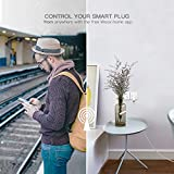Woox Smart Plug Mini Outlet R4785 Works with Timer Amazon Alexa Google Assistant IFTTT, No Hub Required, CE RoHS Certified, 2.4GHz WiFi Enabled Voice Remote Control Socket White
