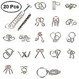 TOYMYTOY 20 stücke Neun Ring Verriegelung Set Chinesische 9 Ring Puzzle Spielzeug für Kind Erwachsene Geschenk Geburtstagsgeschenk Bildungs Developmental Toys