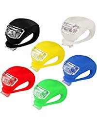 6 Stücke LED Silikon Vorne Rückleuchten Set Push Cycle Clip Licht Fahrradlampe,Nourich Scheinwerfer Frontleuchte Fahrradleuchte, Fahrradlicht,Aufladbare Fahrradlichter Lamp Fahrradbeleuchtung (6 PC)