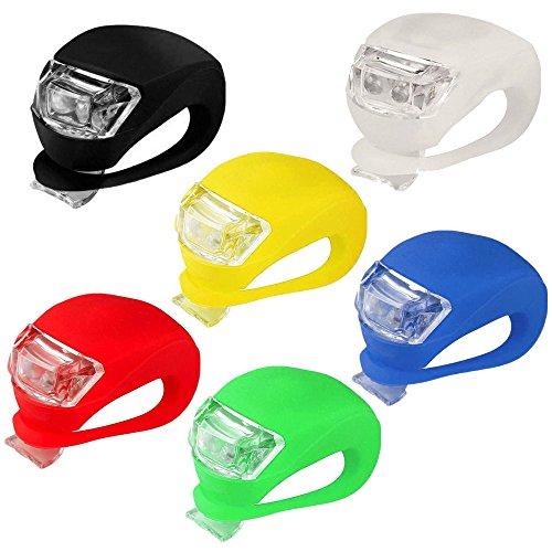 kashyk 6PCS LED Lampe Licht LED Sicherheitslicht LED Fahrradlampem, Blinklicht Taschenlampe mit 3 Licht-Modi,Fahrradlampe Set Regen-und stoßfest für Nachtfahrer,Radfahren und Camping