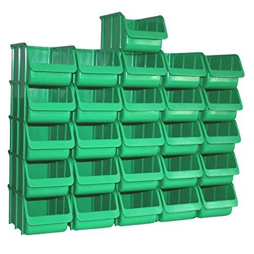 26 Profi Lager-Sichtboxen PP Größe 3 in Farbe Grün