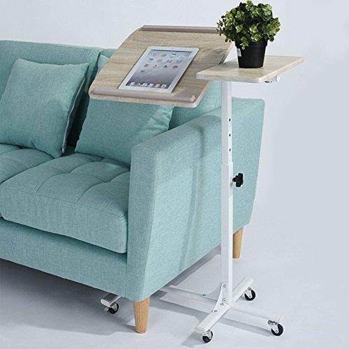 Small carrello carrellino tavolino con ruote porta pc notebook laptop altezza regolabile 60 x 40 x 70/90cm ideale per casa ufficio