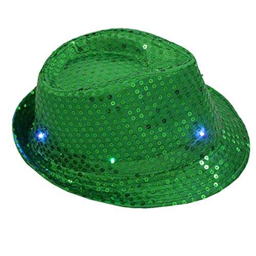 LED light Hat Flashing Light Up Hut baseball Cap Glühender Leuchte Kappe Mit Colorful Sequin Night Hat Magischer Hut Urlaub Partyhut Fancy Dress Dance Party Unisex Casual Festival Jazz Blinker