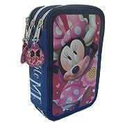 Grazioso borsello porta colori a 3 zip che raffigura il personaggio di Minnie del mondo Disney. Il borsello è composto da 3 scomparti ogniuno di essi chiuso con un cerniera, nel primo troverete 1 matita, 2 penne, 1 gomma, 1 temperamatite, 1 r...
