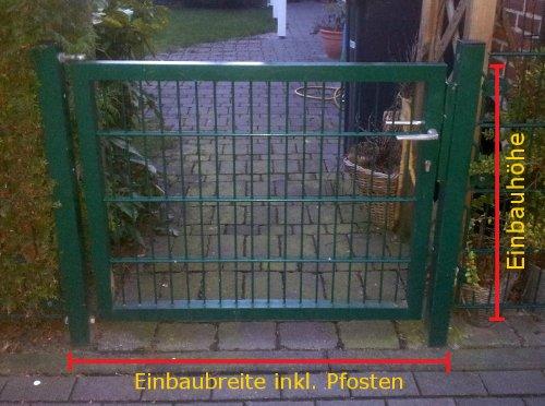 Breite 100cm x Höhe 143cm Verzinkt Mattentor Gartentor Hoftor