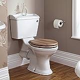 Hudson Reed Conjunto Completo con Inodoro WC y Lavabo Tradicional con Columna en Estilo Retro