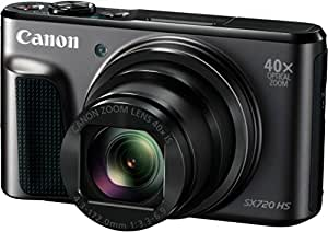 Canon PowerShot SX720 HS Digitalkamera (20,3 Megapixel, 40 x Zoom, 7,5 cm (3 Zoll) LCD-Display, Full HD, CMOS-Sensor, WLAN) schwarz