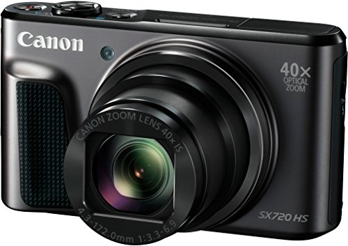 Canon PowerShot SX720 HS Digitalkamera (20,3 Megapixel, 40 x Zoom, 7,5 cm (3 Zoll) LCD-Display, Full HD, CMOS-Sensor, WLAN) schwarz