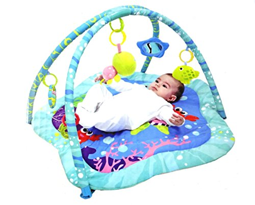 Mastela Funny Ocean Baby Activity Colorful Play Gym Padded Play Mat - For Baby Infants & Toddlers