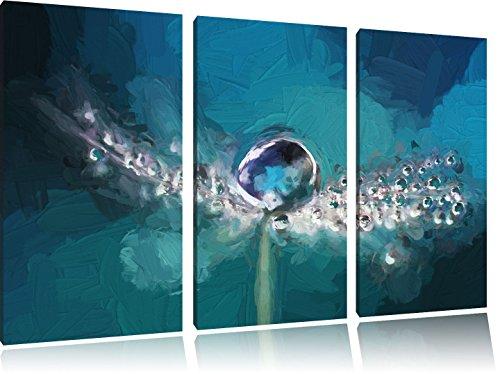 gocce-dacqua-su-un-dente-di-leone-immagine-art-pennello-effetti-immagine-canvas-3-pc-120x80-su-tela-