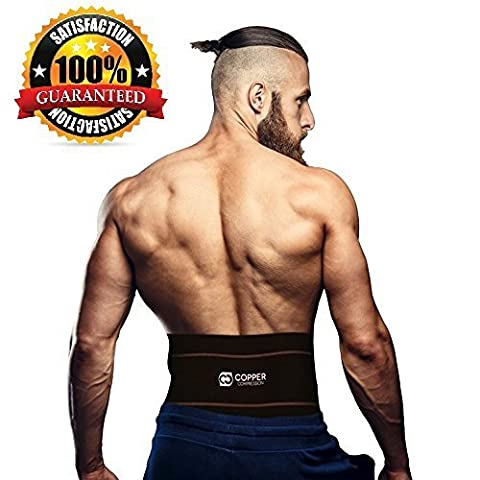 Copper Compression Lower Back Lumbar Support Brace, #1 GUARANTEED Highest