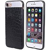 iPhone 6Plus caso, cimoxi Slim y funda de encaje, carcasa de piel sintética para Slim Case para iPhone 7Plus–Negro