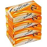Santoor Bathing Bar, 75gm (Pack Of 4)