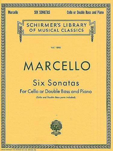 Benedetto Marcello: Six Sonatas For Cello Or Double Bass. Für Kontrabass, Cello, Klavierbegleitung